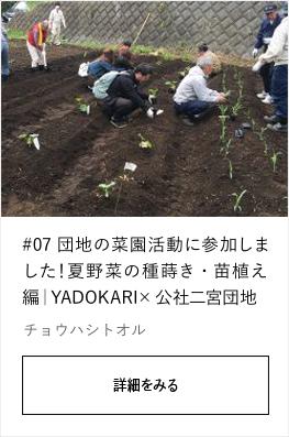 #07 団地の菜園活動に参加しました!夏野菜の種蒔き・苗植え編|YADOKARI✕公社二宮団地